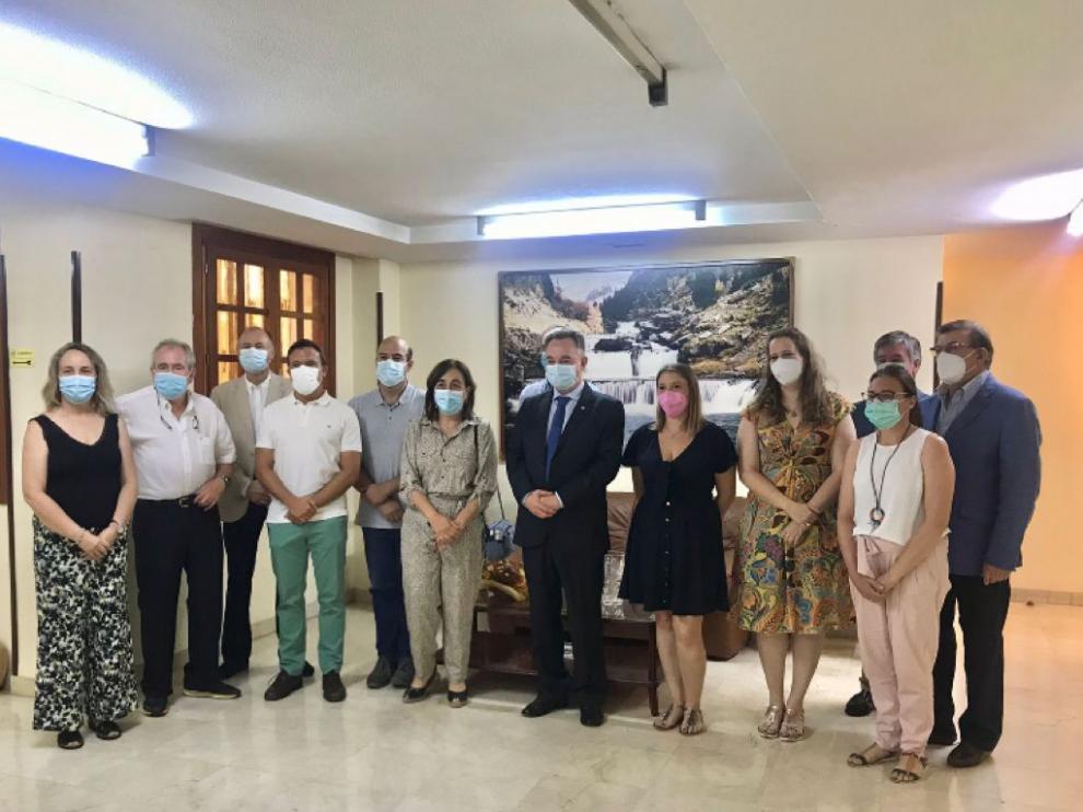 Miembros de la nueva junta directiva del Ilustre Colegio Oficial de Médicos de Huesca