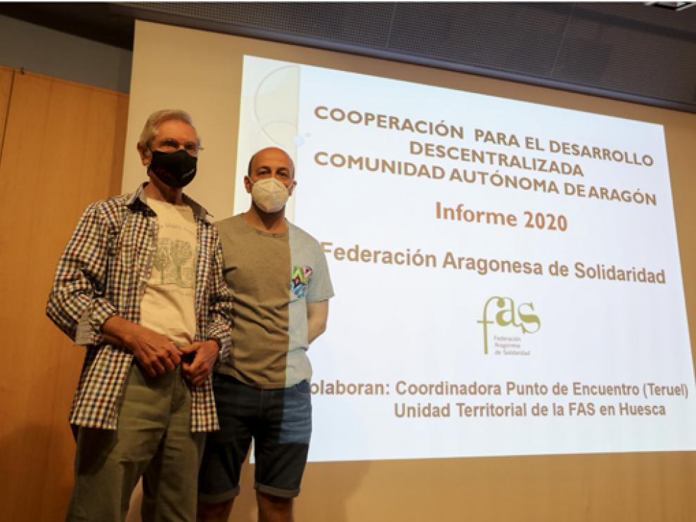 La Federación Aragonesa de Solidaridad presentó el informe a la ciudadanía oscense.