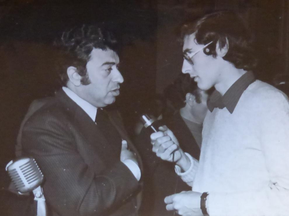Tico Medina junto a nuestro compañero Ángel Huguet