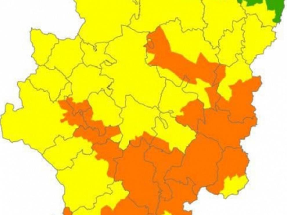 Alerta naranja en zonas de Huesca