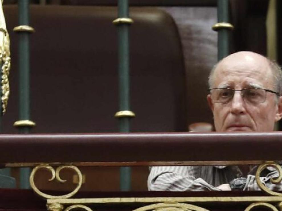 Ángel Hernández en el Congreso de los Diputados.