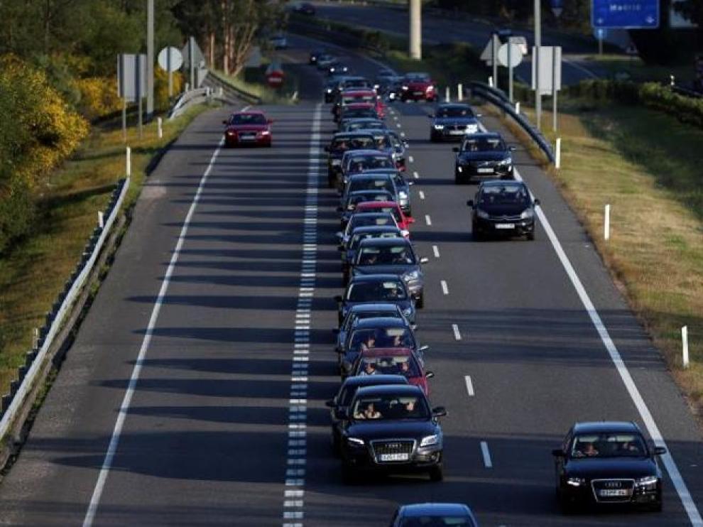 Imagen de archivo de una carretera española