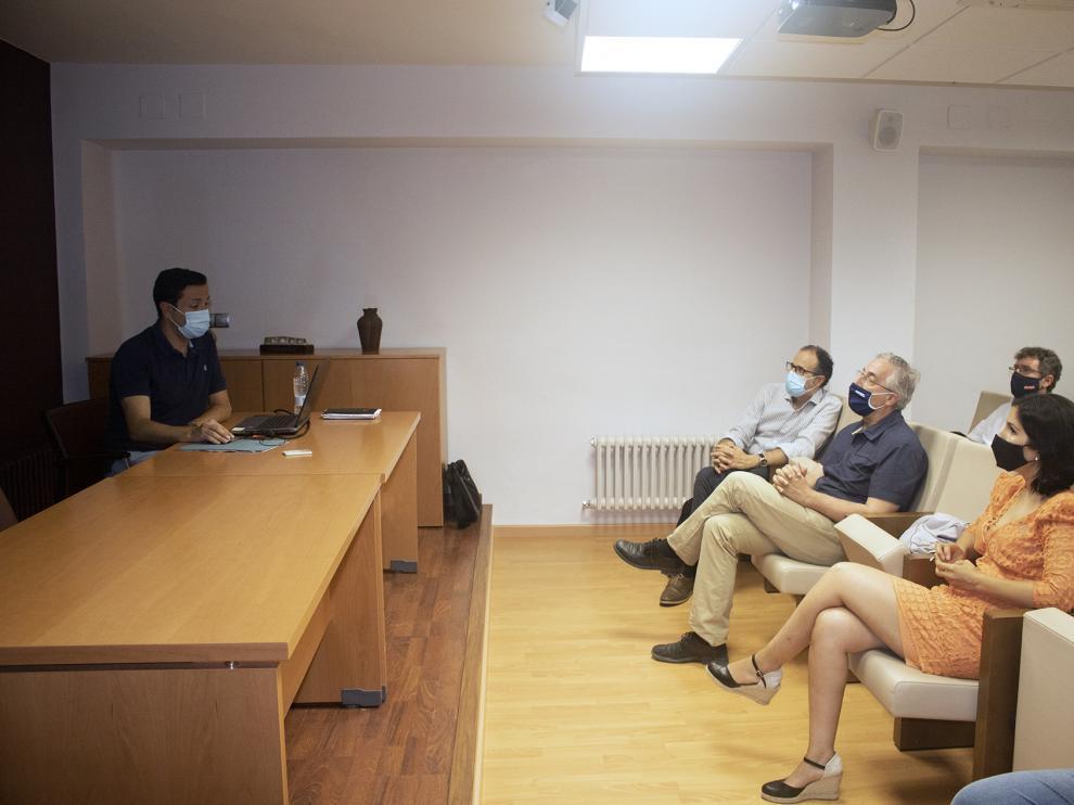 Foto general de la recepción que tuvo lugar en el Ayuntamiento de Ballobar