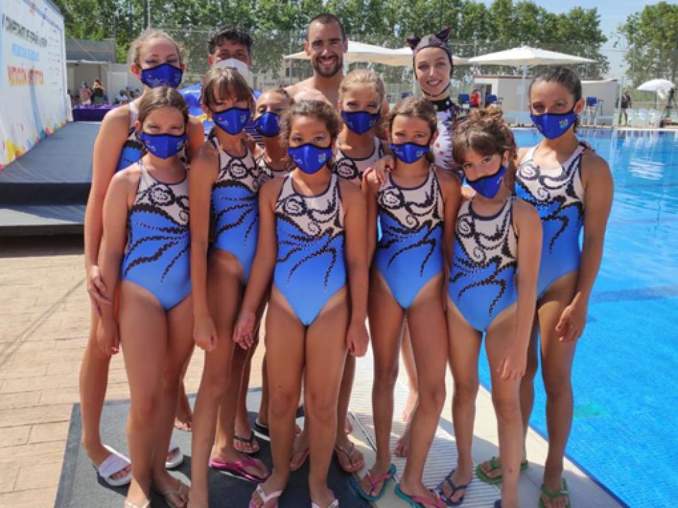 El equipo barbastrense que compitió en Baleares este fin de semana.