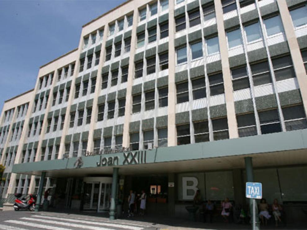 El Hospital Joan XXIII de Tarragona, donde se encuentra ingresada la víctima