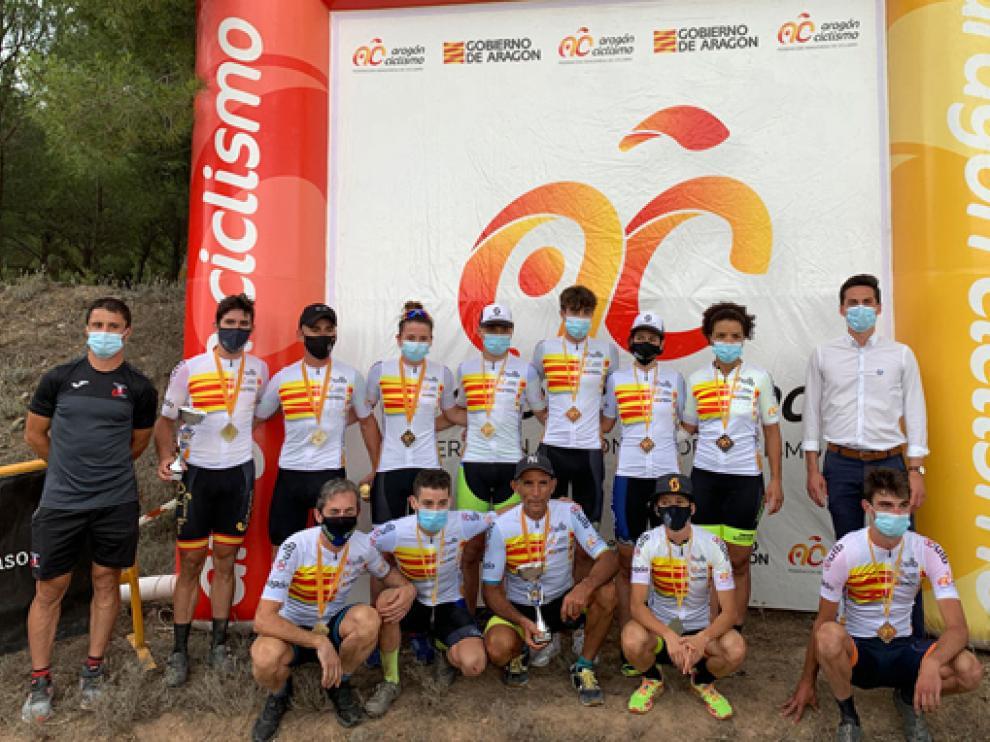 Los nuevos campeones de Aragón en Tarazona.