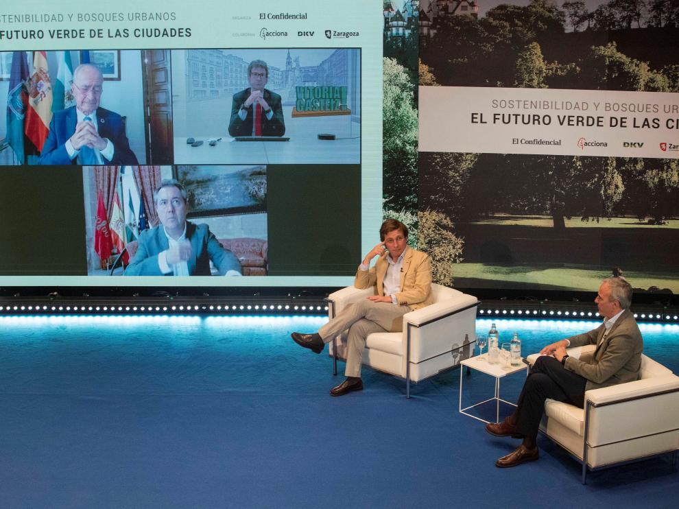 """Almeida y Azcón en el foro """"Sostenibilidad y bosques urbanos. El futuro verde de las ciudades"""""""