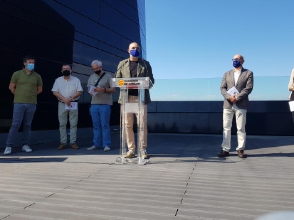 Víctor Lucea y los directores de los Museos de Zaragoza y Huesca y el IAACC Pablo Serrano presentan la IV edición de Múver