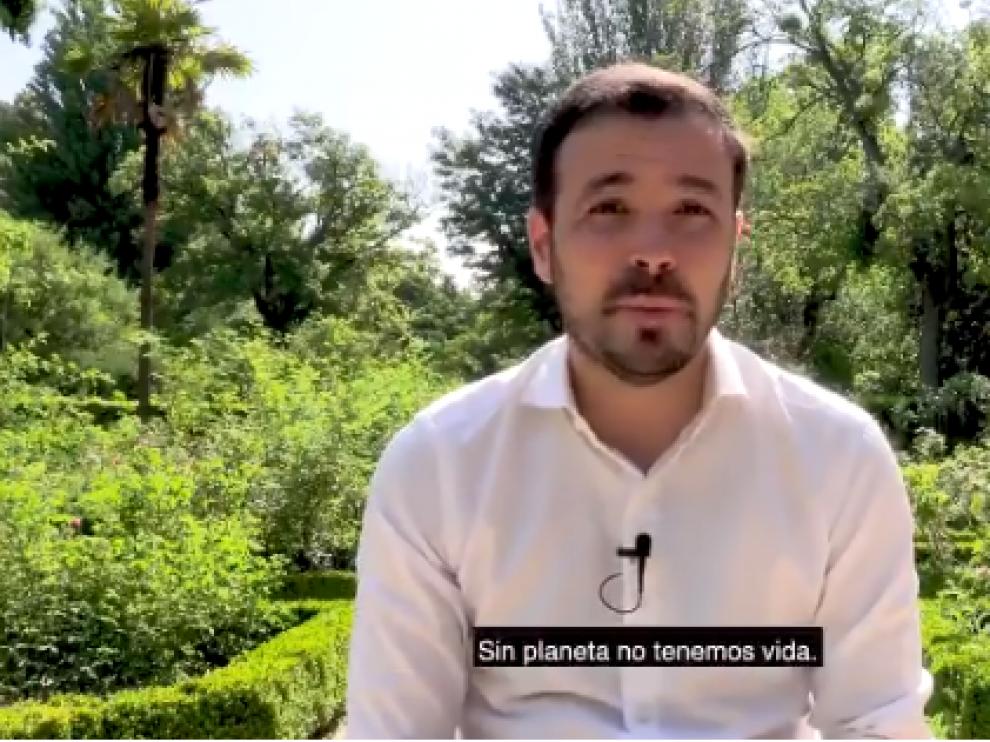 Alberto Garzón, en el vídeo difundido en redes sociales.