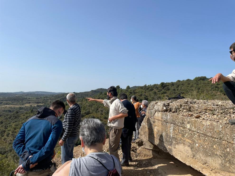 Durante una de las visitas a las fortificaciones de El Grado