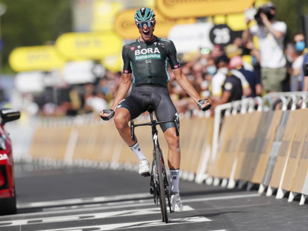 El alemán Nils Politt (Bora Hansgrohe), vencedor de la duodécima etapa del Tour de Francia.