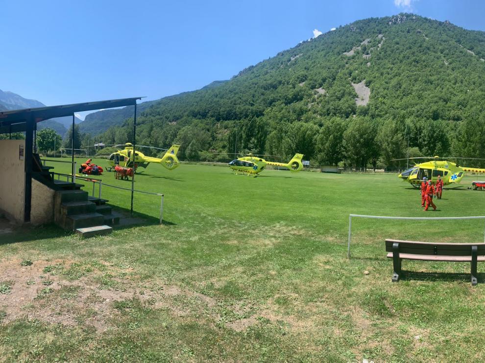 Dos personas han resultado heridas este sábado en un accidente de avioneta entre Castejón de Sos y Laspaúles.