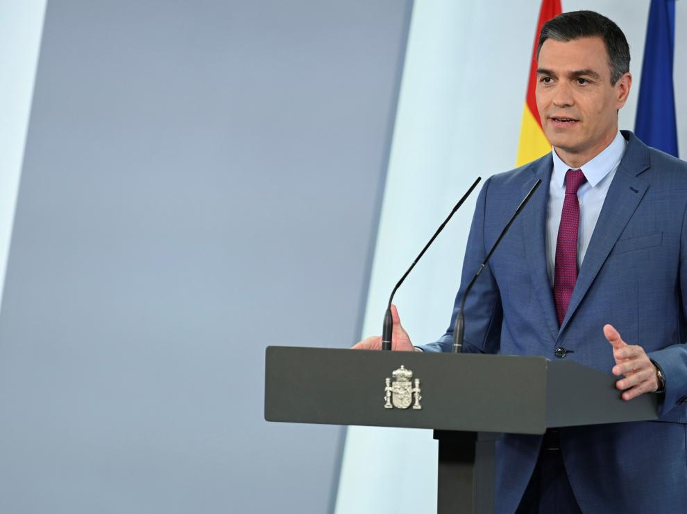 Comparecencia de Pedro Sánchez.