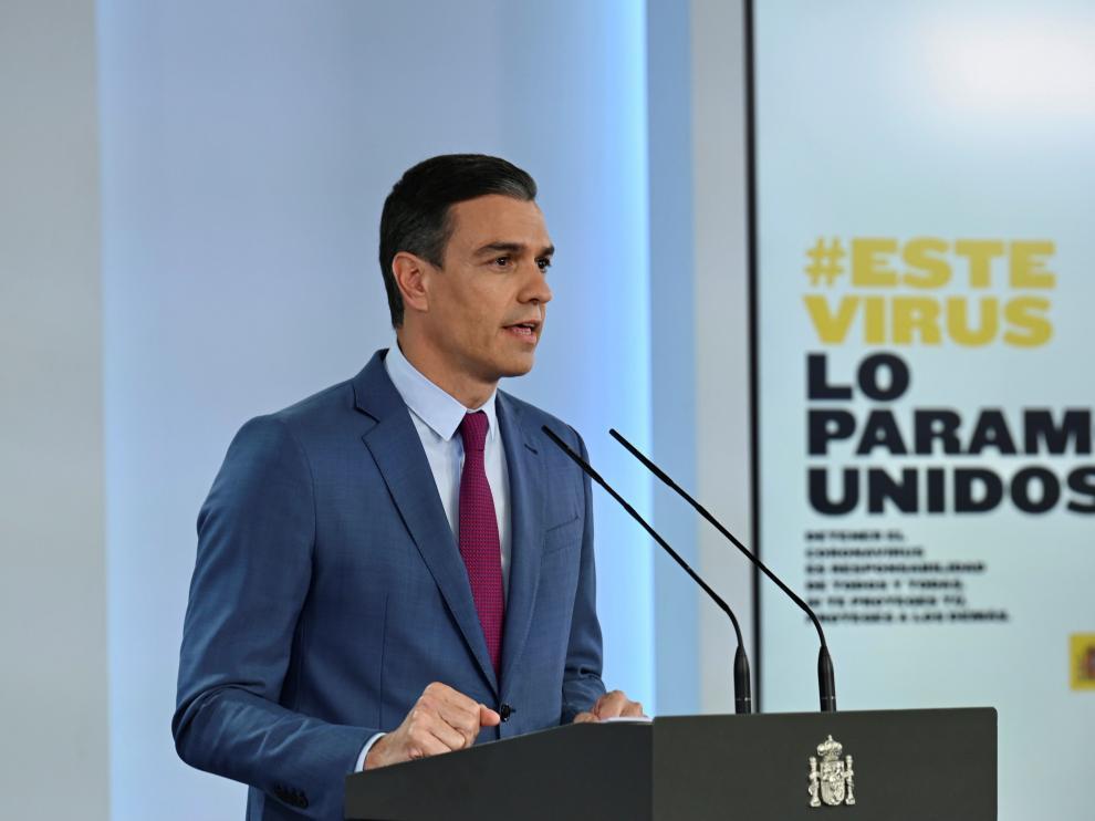 Comparecencia de Pedro Sánchez para anunciar el cambio de gobierno.