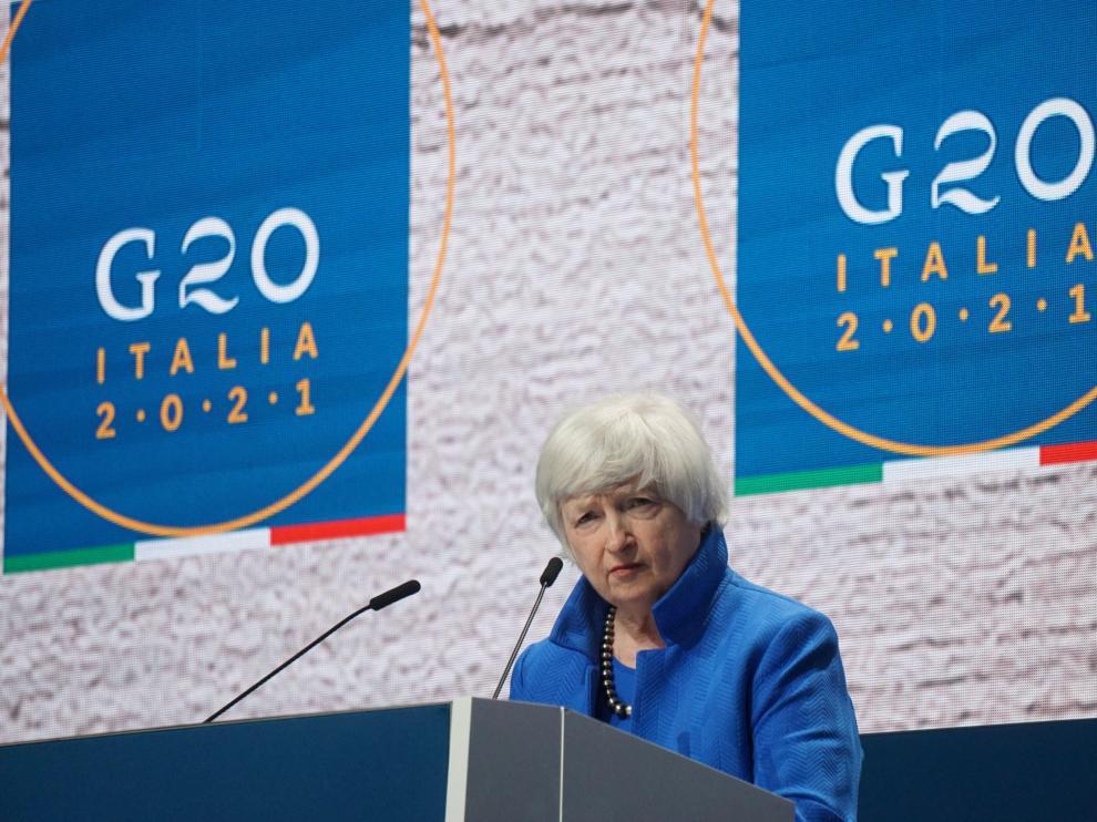 Yellen confía en que Estados Unidos apruebe el pacto fiscal global en la primavera de 2022.