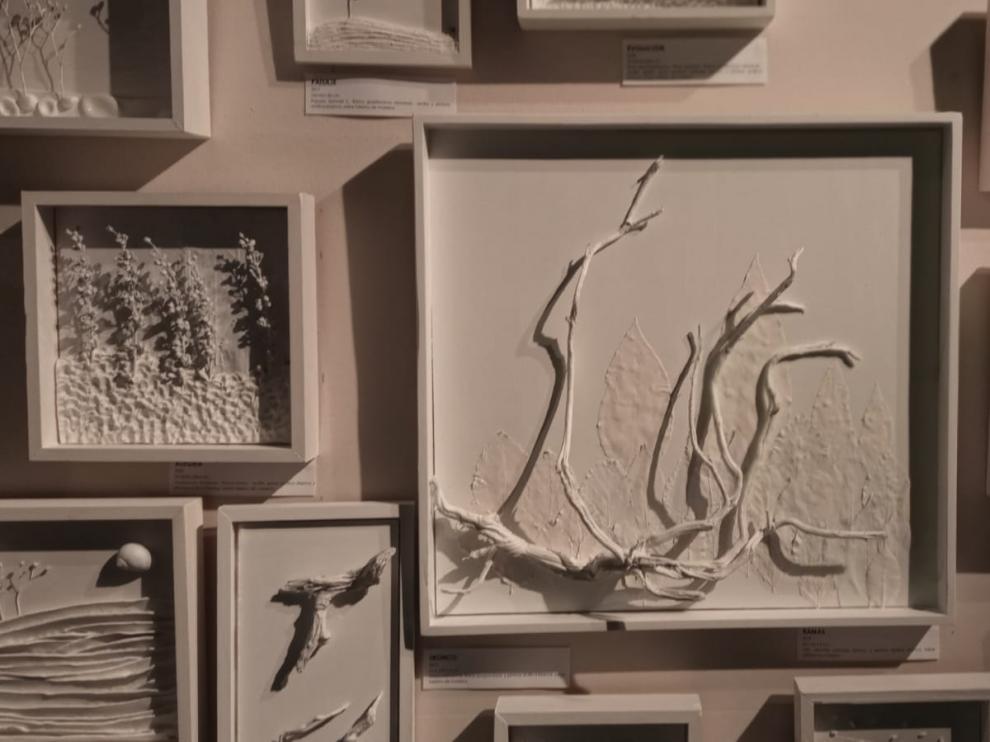 Parte de las obras que se exponen en Graus.