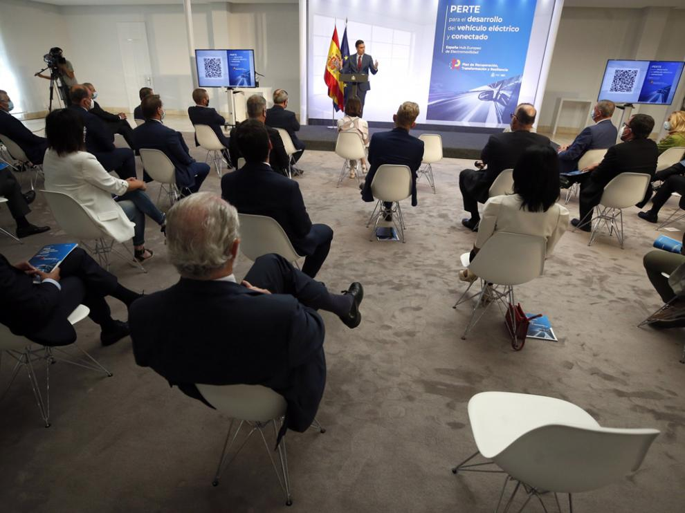 El presidente del Gobierno, Pedro Sánchez, presidió el pasado lunes la presentación del Perte.