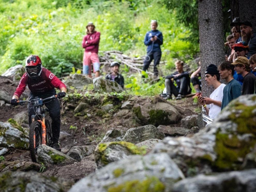 Gabriel Torralba, este fin de semana en los Alpes italianos.