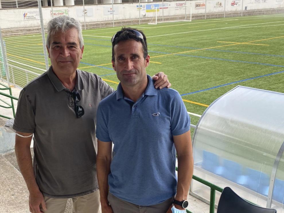 El nuevo presidente, Díez, y el anterior, Óscar Bara.