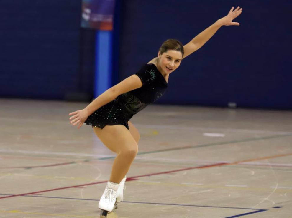 La patinadora altoaragonesa, durante el Campeonato de España de Madrid.