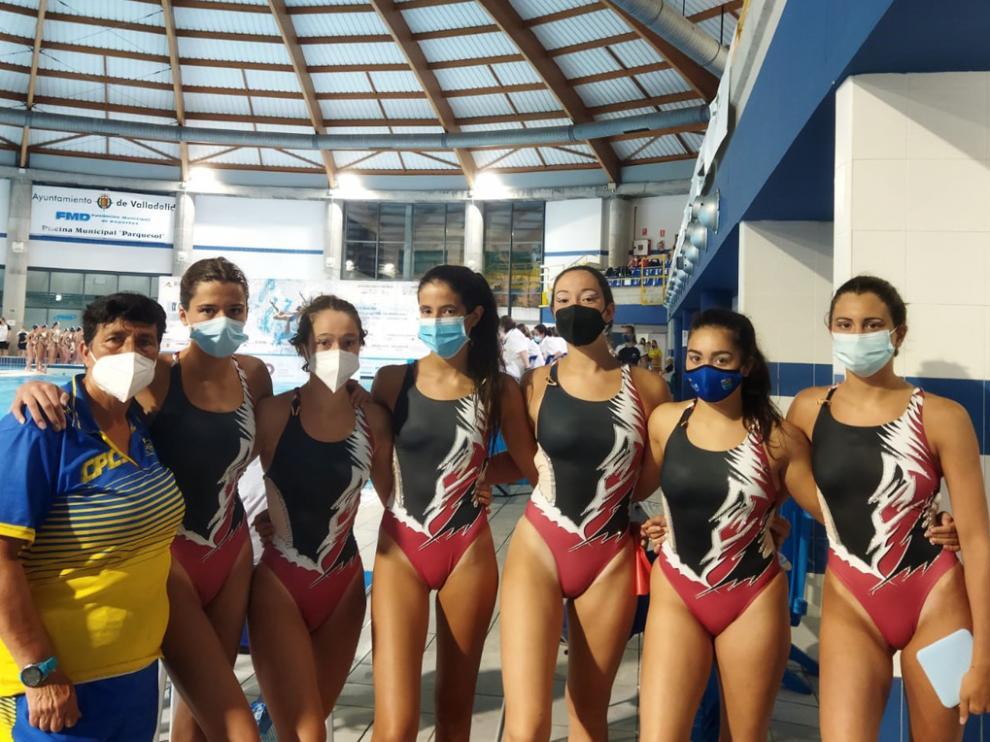 Las representantes del C. P. C. Somontano en el IX Campeonato de España de verano.