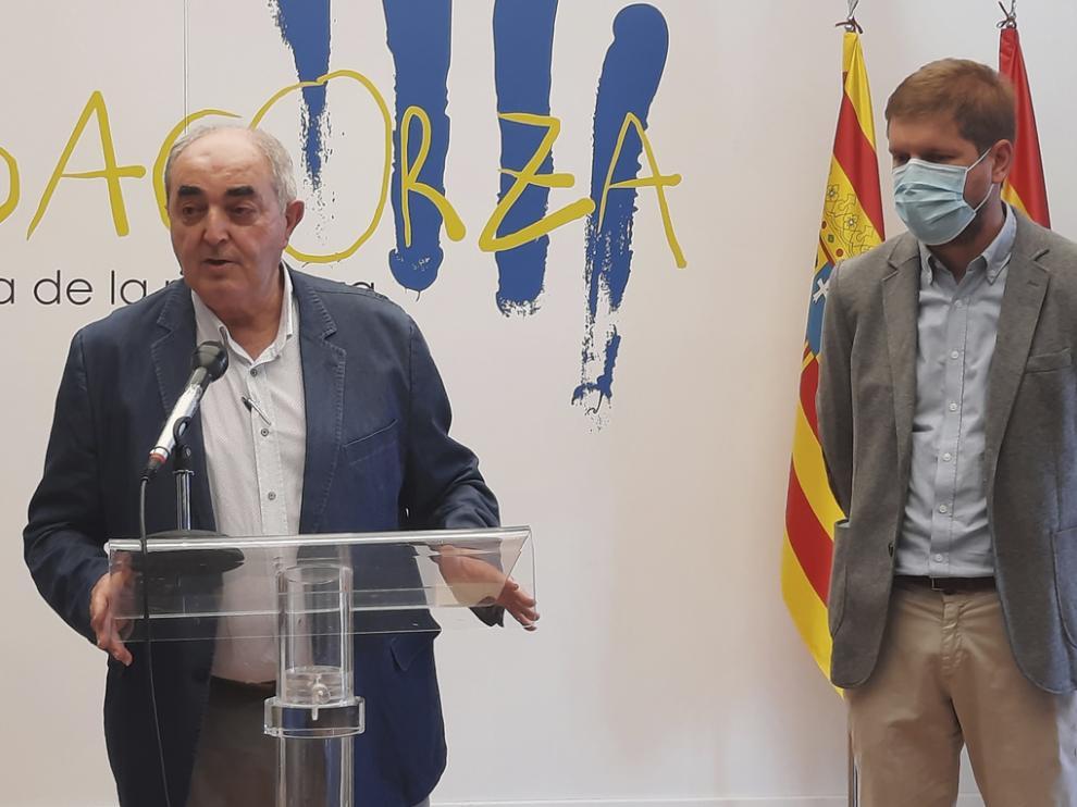 Manuel Rodríguez Chesa, de la Cámara de Comercio, y el presidente de la Comarca, Marcel Iglesias.