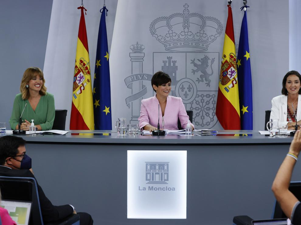 Rueda de prensa tras el primer Consejo de Ministros del nuevo Gobierno.