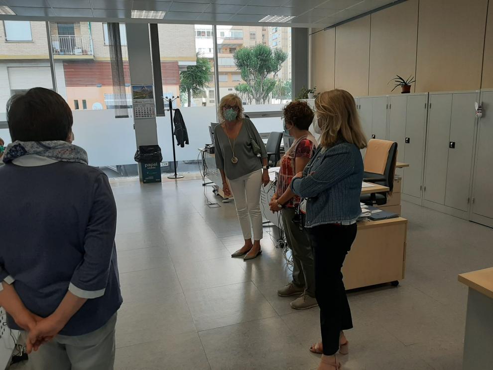 Visita de la subdelegada del Gobierno, Silvia Salazar, al Sepe de Huesca.