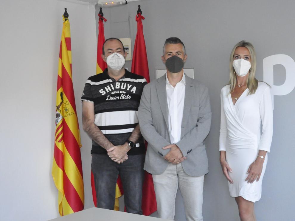 Daniel Ventura, Carlos Serrano y Cristina Muñoz