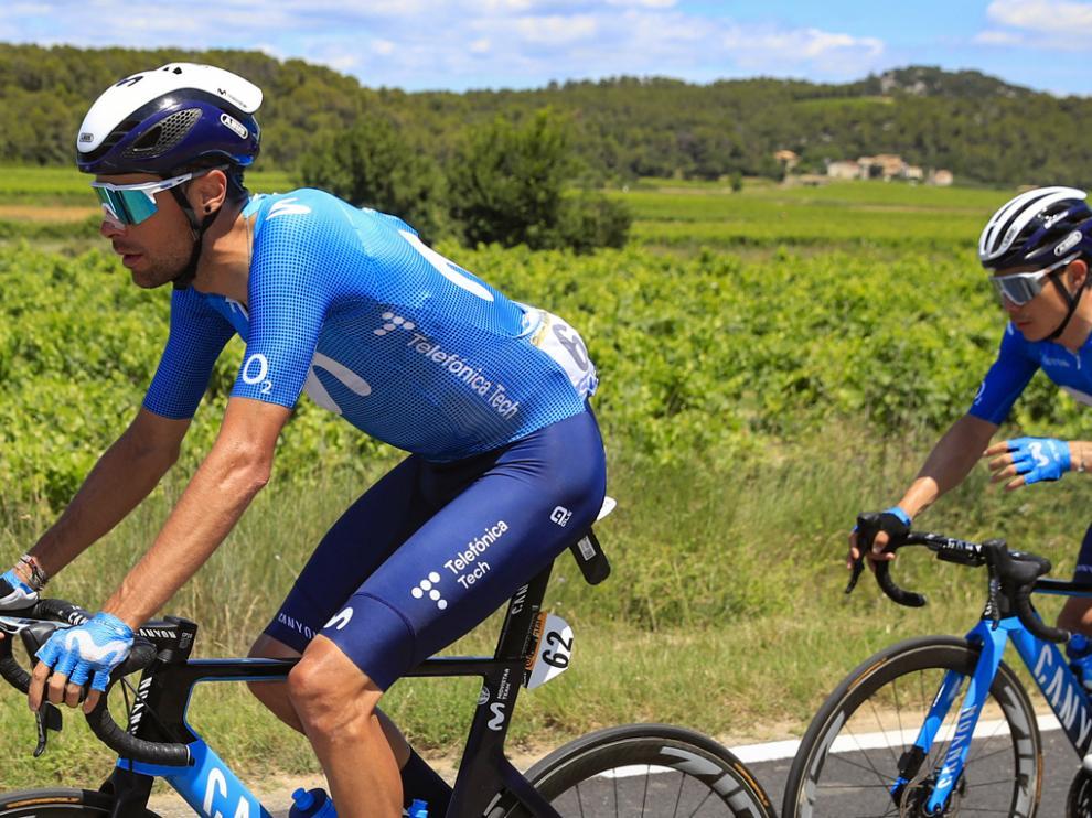 Jorge Arcas, estos días en el Tour de Francia.