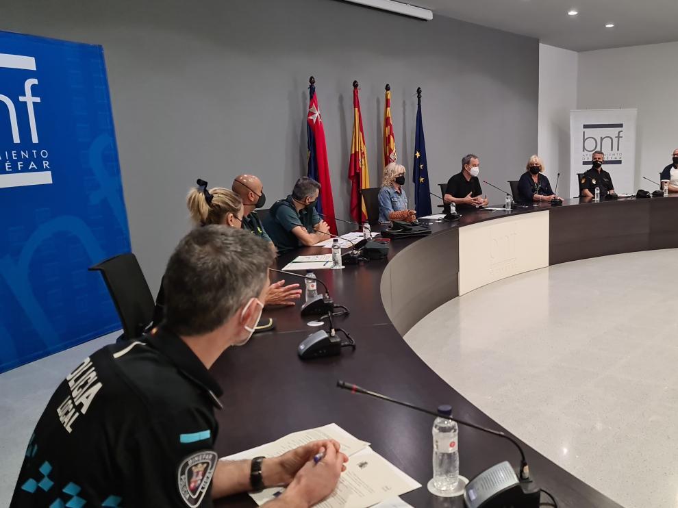 Reunión de la Junta Local de Seguridad de Binéfar.