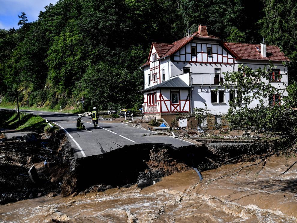 Inundaciones en la localidad alemana de Schuld.