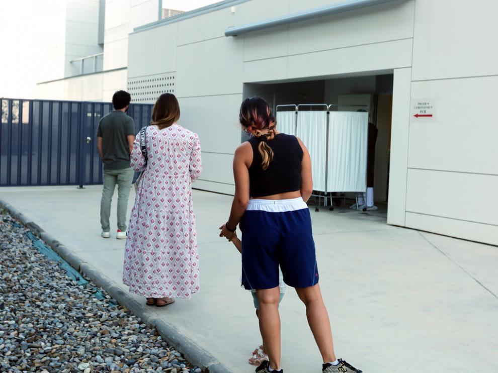 Cola, la semana pasada, para hacerse PCR en el Centro de Salud de Los Olivos