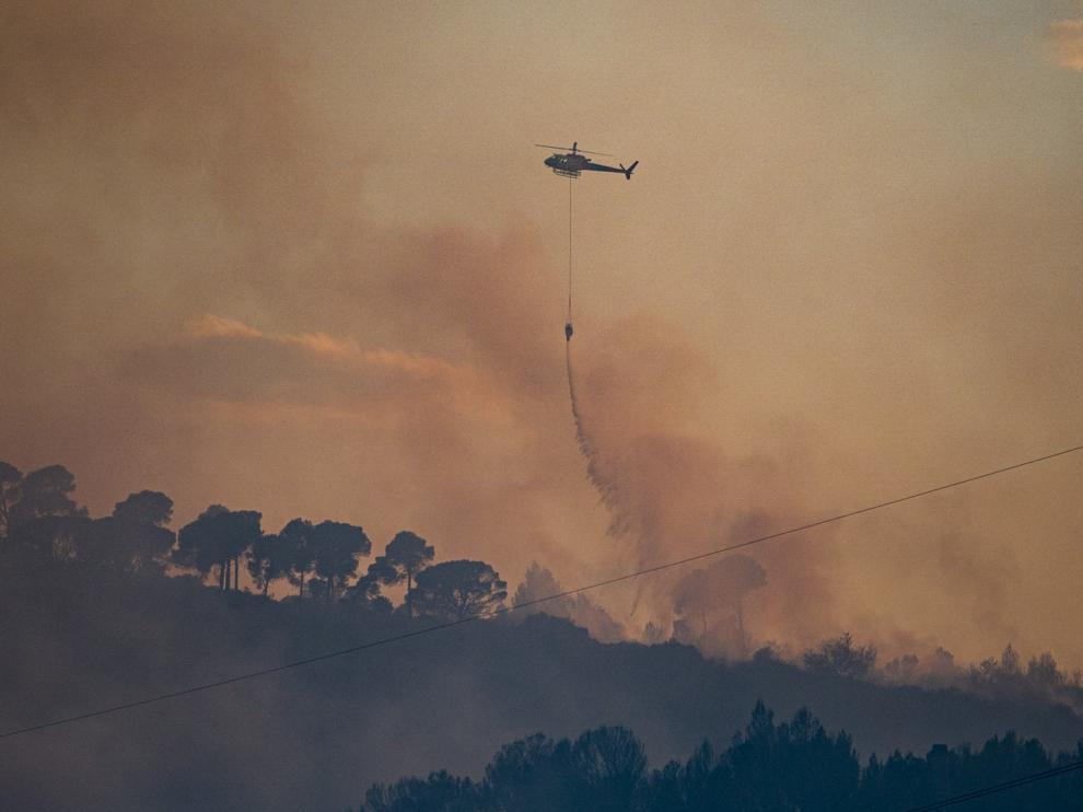 Incendio en la provincia de Huesca