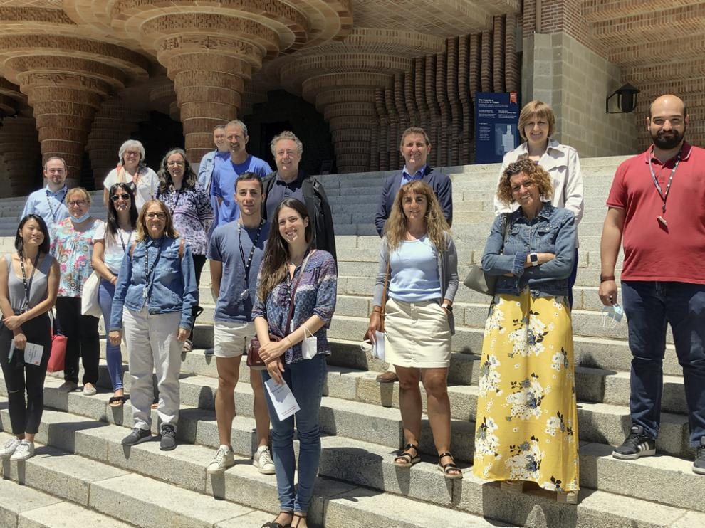 Los responsables turísticos, este jueves en Torreciudad