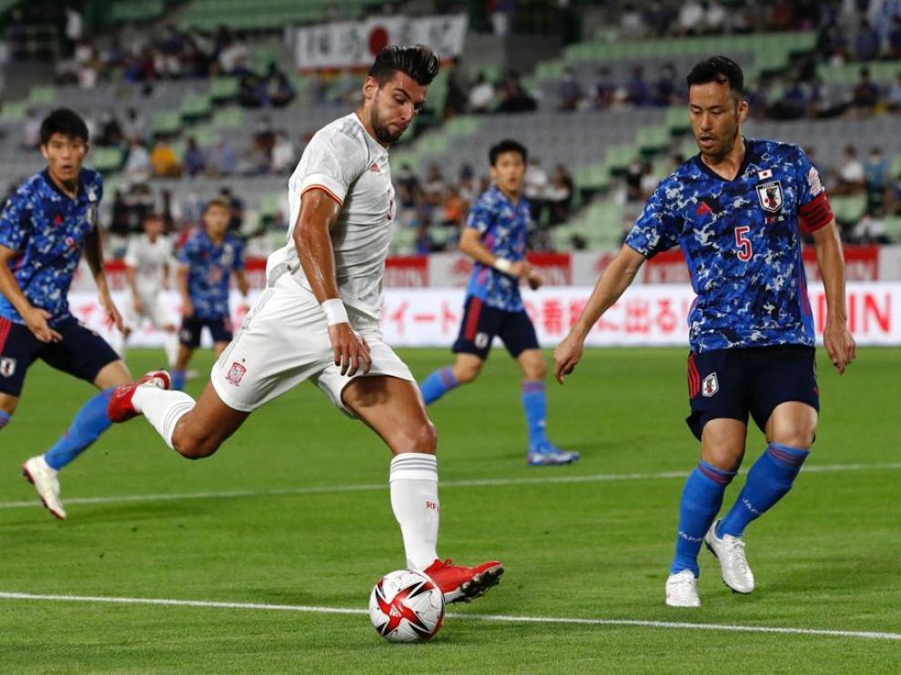 Rafa Mir ha sido titular ante Japón.
