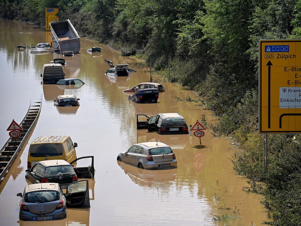 Inundaciones en Alemania ocasionadas por las tormentas.