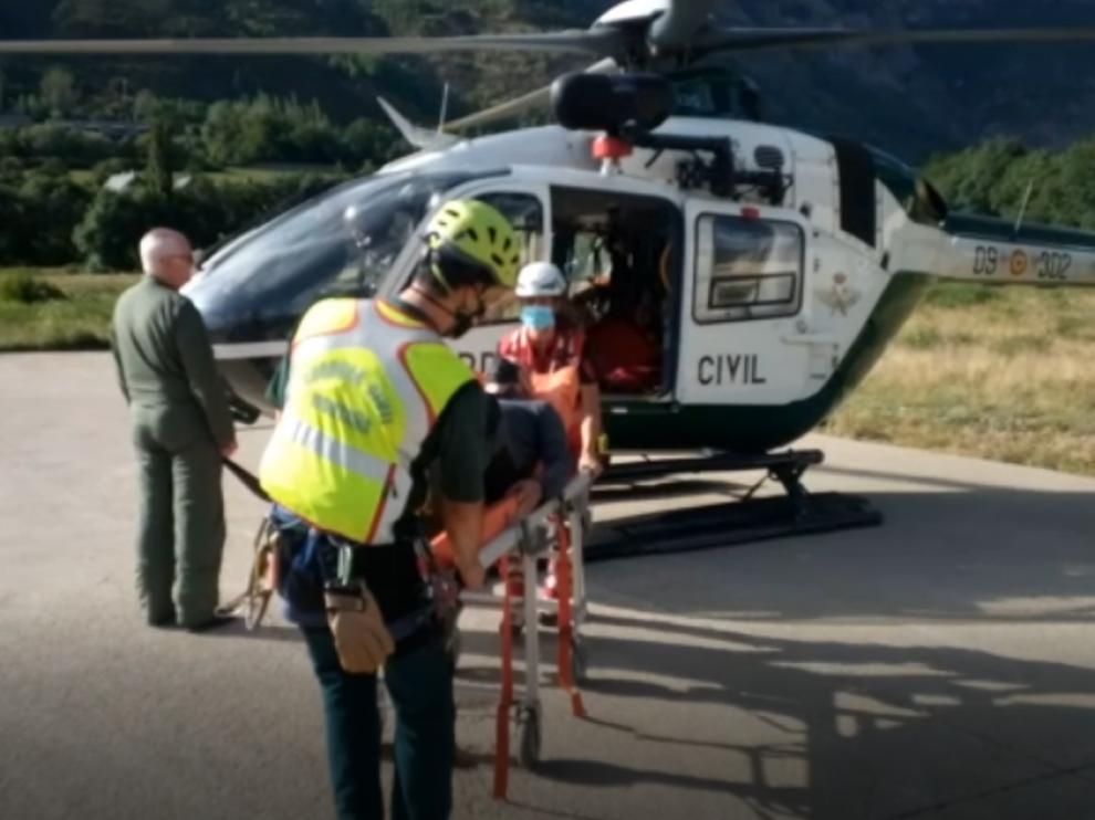 Uno de los 23 rescates llevados a cabo esta semana