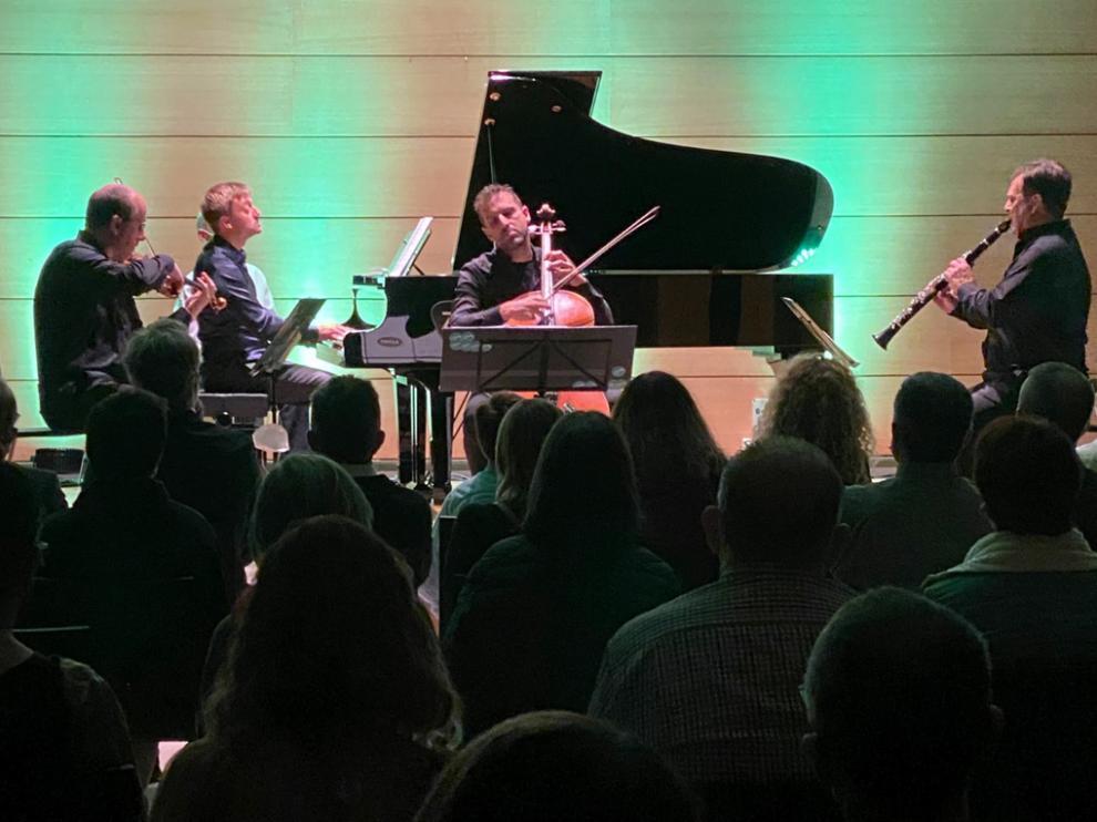 Actuación del Ensemble Tocando el Cielo (Enrique Bagaría, David Apellániz, Aitzol Iturriagagoitia y Francisco Antonio García).