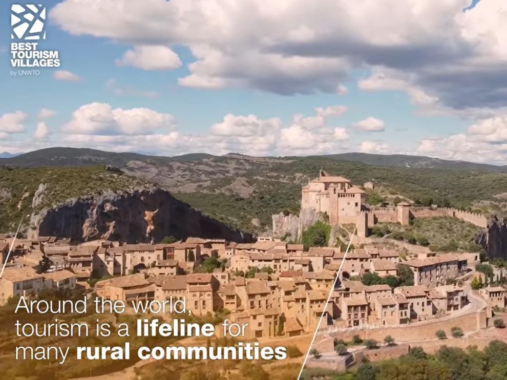 Alquézar y Aínsa aparecen en el vídeo de la Organización Mundial del Turismo