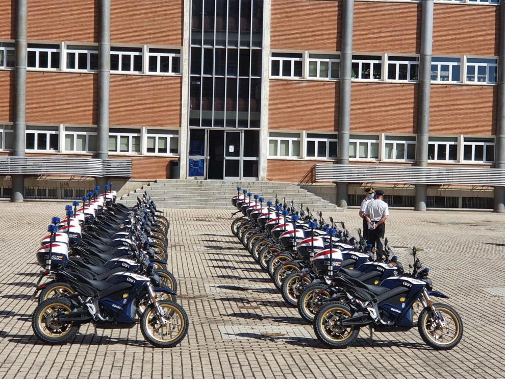 Flota de motos eléctricas de la Policía Nacional