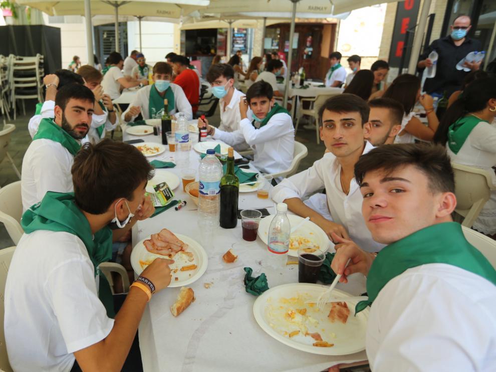 Imagen de almuerzos durante la mañana del día 9 de agosto del 2020, ya en pandemia.