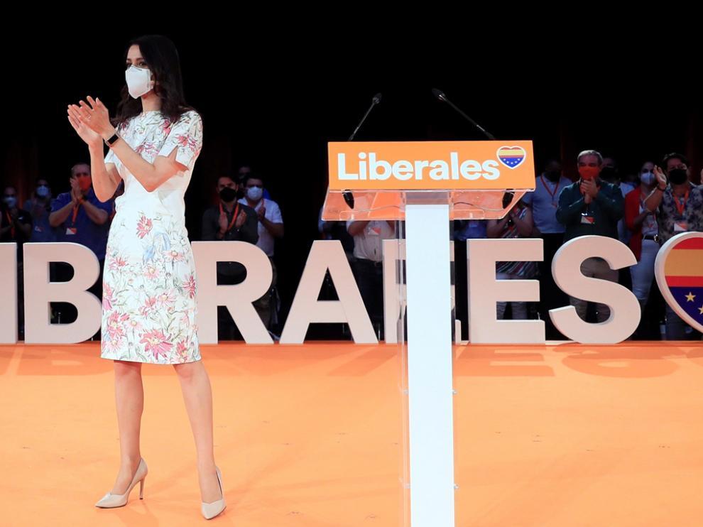 Inés Arrimadas durante la clausura de la primera convención política de la formación de Ciudadanos.