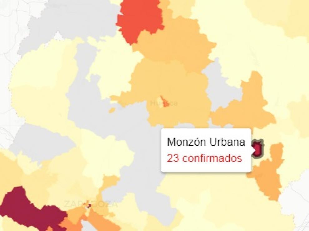 Siguen aumentando los casos de covid en la provincia de Huesca.