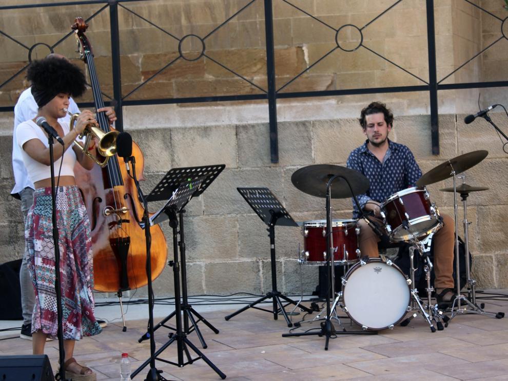 Milena Casado, durante la actuación.