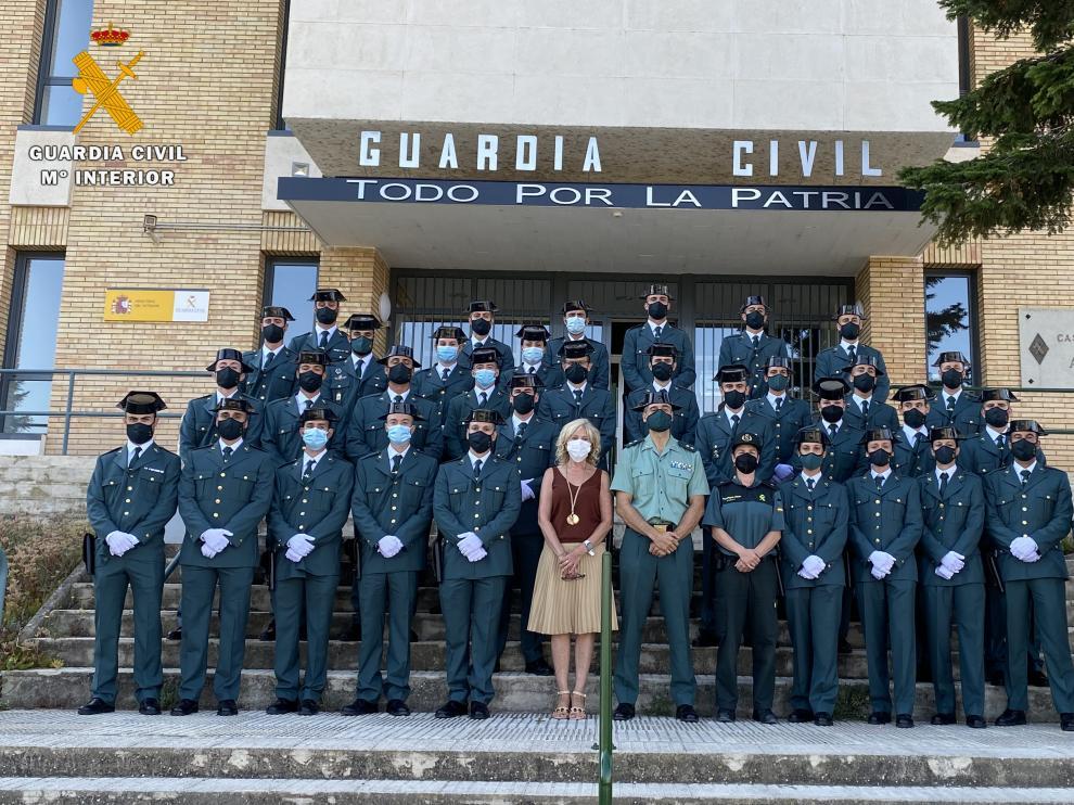 Acto de recepción de los nuevos agentes de la Guardia Civil.
