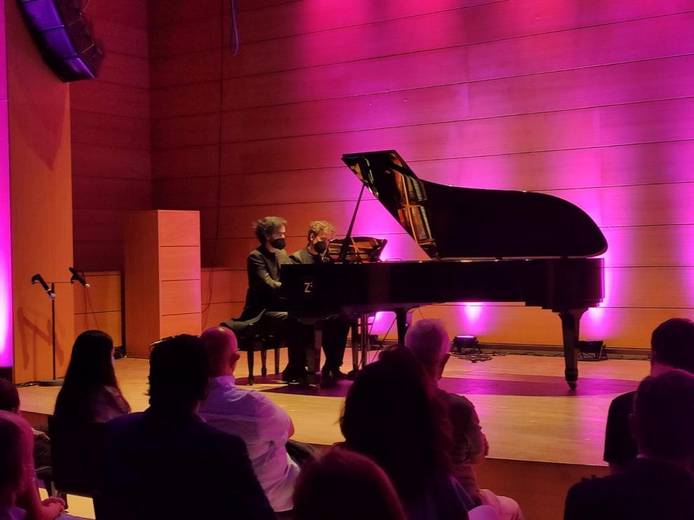 Imagen del concierto de Dúo Moreno Gistaín.