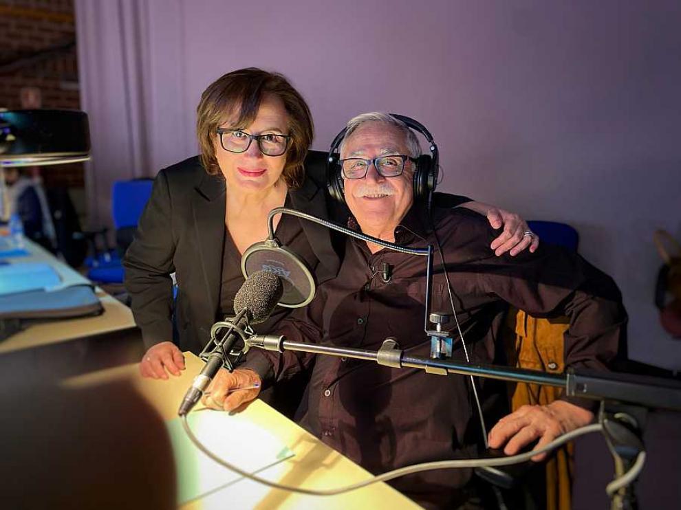Elisenda Roca y Juanjo Cardenal.