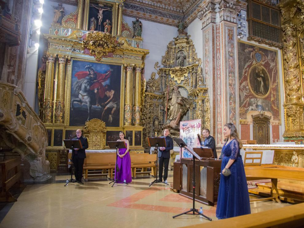 Imagen del concierto de EnClaves en la iglesia de Santo Domingo