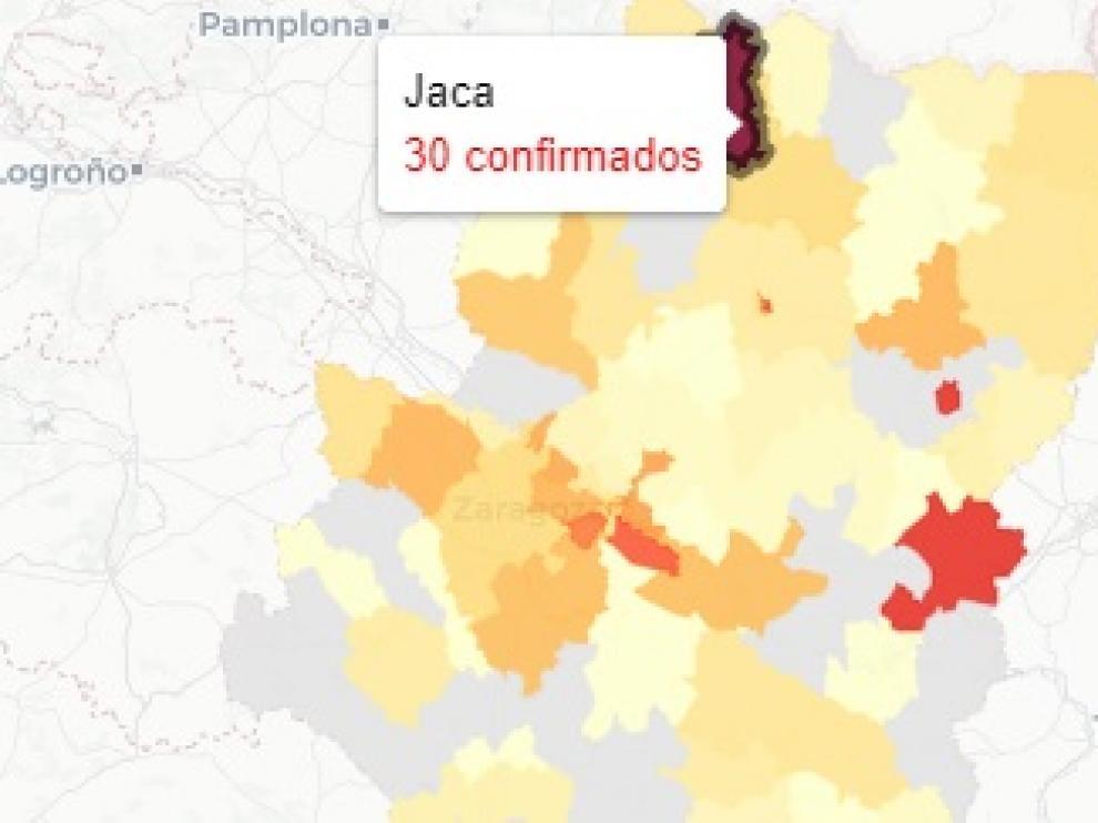 La zona de salud de Jaca ha registrado el dato más alto de Aragón.